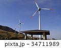 エコ エコロジー 再生可能エネルギー 風力発電 風車 34711989