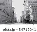 都会 モノクロ CG 34712041