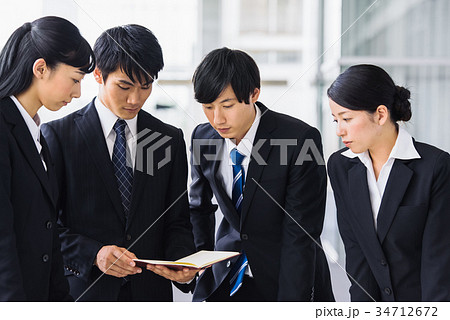 ビジネス 若手 新人 就活イメージ 34712672