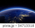 南米大陸 地球 スペースのイラスト 34713318