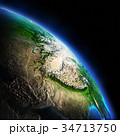 Earth night 3d rendering planet 34713750