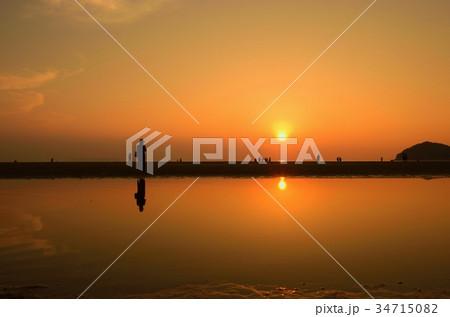 父母ヶ浜海岸の夕景 34715082