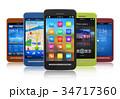 Set of touchscreen smartphones 34717360
