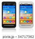 Set of touchscreen smartphones 34717362