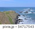 風景 襟裳岬 海の写真 34717543