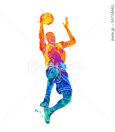 basketball player, ball 34718461