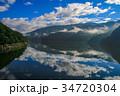 草木湖 湖 早朝の写真 34720304