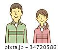 男女 若い 笑顔のイラスト 34720586