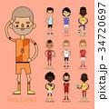 ベクトル サッカー チームのイラスト 34720697