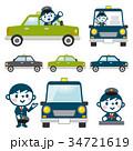 タクシー運転手のセット 34721619