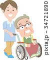 医療 ベクター シニアのイラスト 34721890