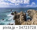東尋坊 海 海岸の写真 34723728