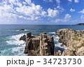 東尋坊 海 海岸の写真 34723730