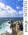 東尋坊 海 海岸の写真 34723732