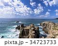 東尋坊 海 海岸の写真 34723733