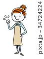 主婦 若い 女性のイラスト 34724224