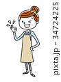 主婦 若い 女性のイラスト 34724225