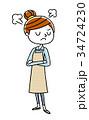 主婦 若い 女性のイラスト 34724230