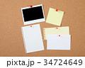 コルクボード,インスタント写真,メモ, 34724649