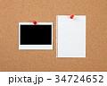 コルクボード,インスタント写真,メモ, 34724652