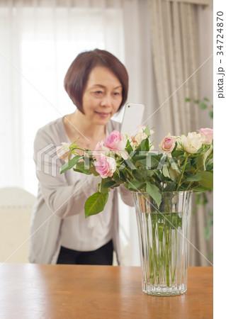性 生花  スマホ 撮影 花ピント 34724870
