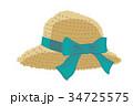 アイコン ベクターデータ 麦わら帽子のイラスト 34725575