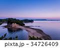 小豆島 潮の満ちてきたエンジェルロード 夕景 34726409