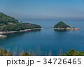 小豆島 さぬき百景 福田海岸 播磨灘 トンボロ現象 34726465