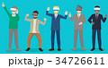 ビジネス 職業 マンガのイラスト 34726611