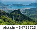 小豆島 寒霞渓 四方指展望台からの内海湾と草壁港 寒霞渓ロー 34726723