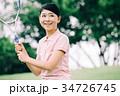 テニスをする日本人女性 スポーツ 34726745