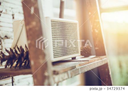 sound music speaker interior decoration at cafeの写真素材 [34729374] - PIXTA