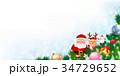 クリスマス サンタクロース 雪のイラスト 34729652