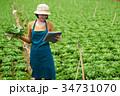 持つ 農 農業の写真 34731070
