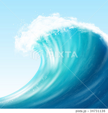 Realistic Sea Big Wave 34731136