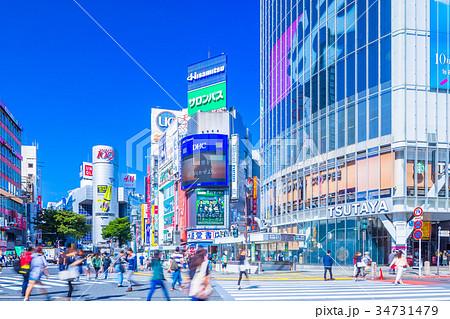 東京 渋谷 スクランブル交差点 34731479