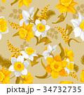 フラワー 花 水仙のイラスト 34732735