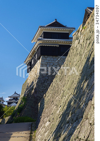 愛媛 松山城の石垣 34734097