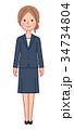 女性 人物 スーツのイラスト 34734804