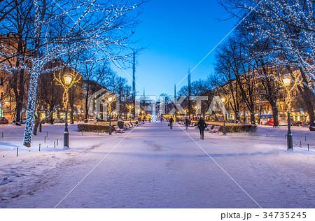 クリスマス・イルミネーション フィンランド・エスプラナーディ公園にて 34735245