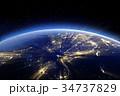 Asia. 3d rendering 34737829