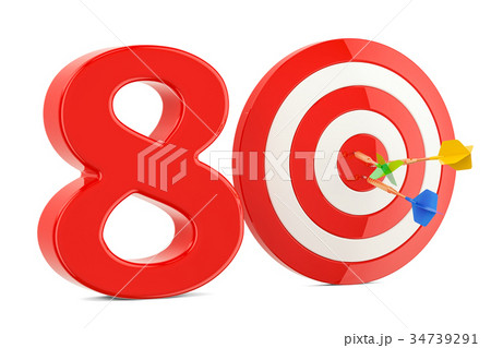 Target 80, success and achievement concept 34739291