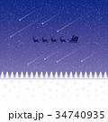 星空と流星 34740935
