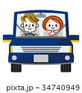運転 カップル 車のイラスト 34740949