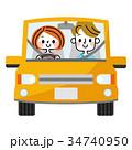 運転 カップル 車のイラスト 34740950