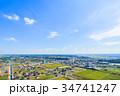 袖ケ浦市 市役所 袖ヶ浦駅 アウトレットパークとその周辺を空撮 34741247
