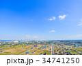 袖ケ浦市 市役所 袖ヶ浦駅 アウトレットパークとその周辺を空撮 34741250