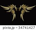 トライバル 羽 翼 タトゥー 34741427