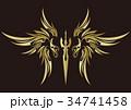 トライバル ステッカー シール 翼 剣 34741458