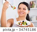 ビタミン 有機 お皿の写真 34745186